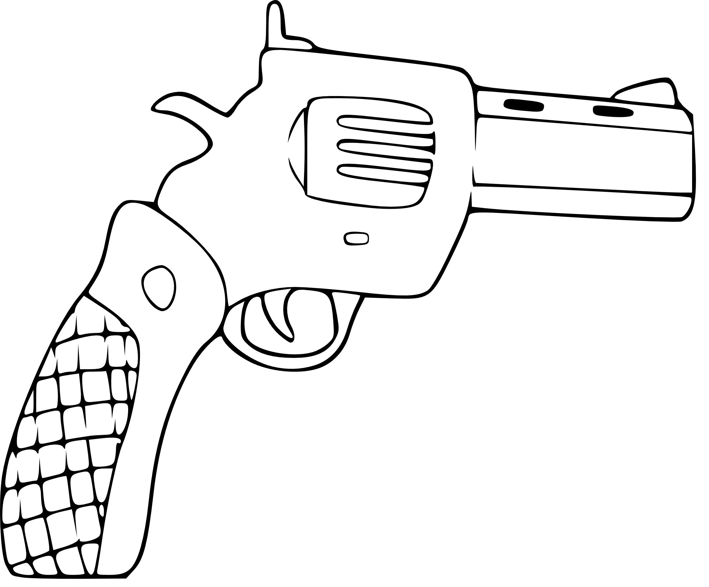 coloriage de pistolet