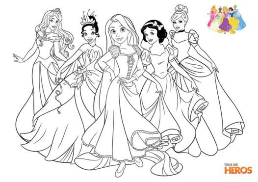 coloriage de princesses