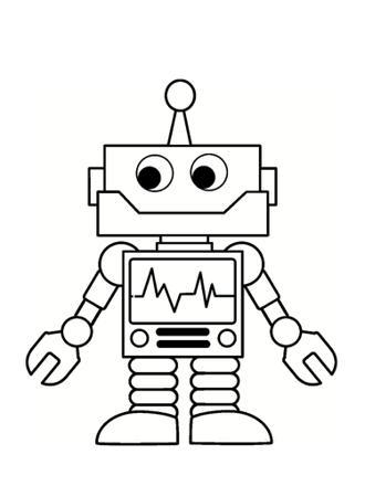 coloriage de robots