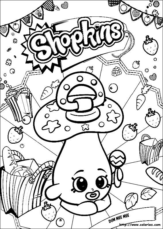 coloriage de shopkins
