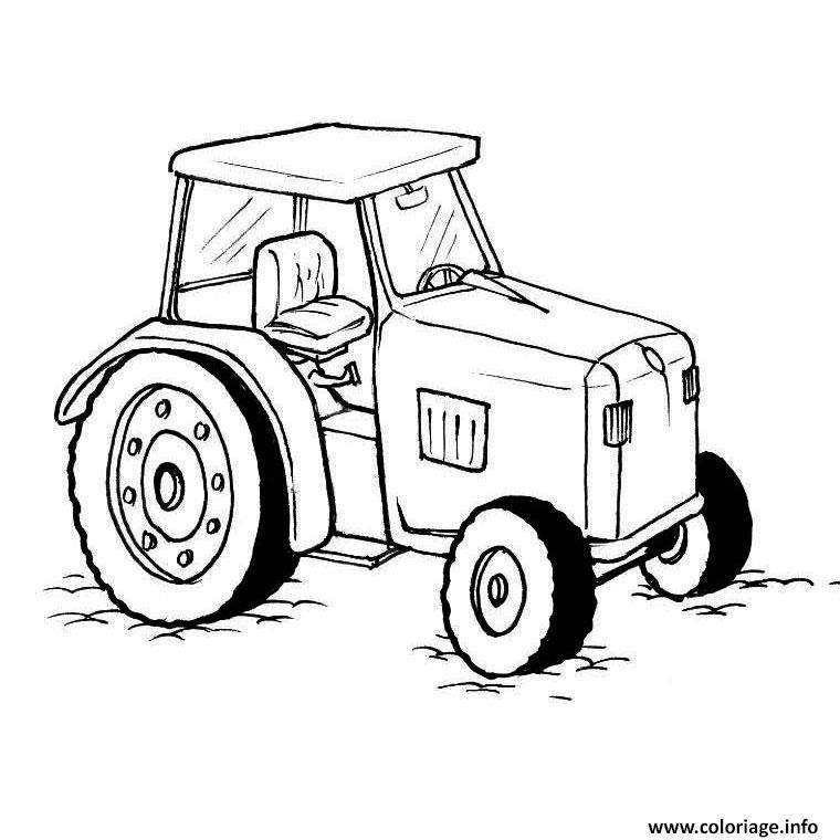 coloriage de tracteur claas
