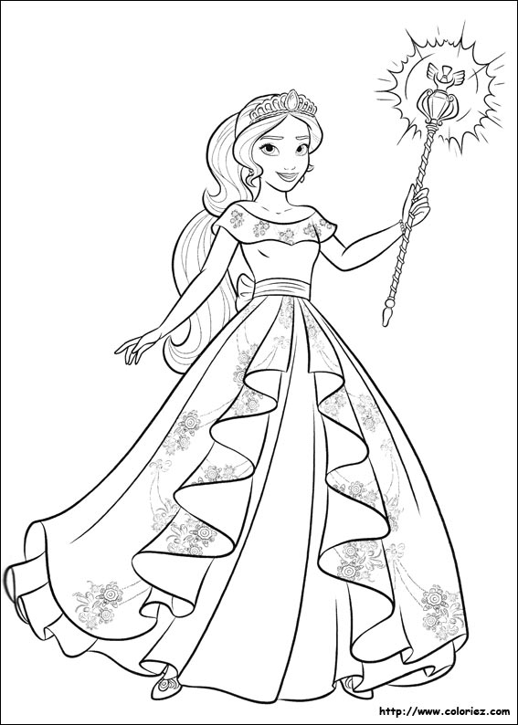 coloriage elena d avalor
