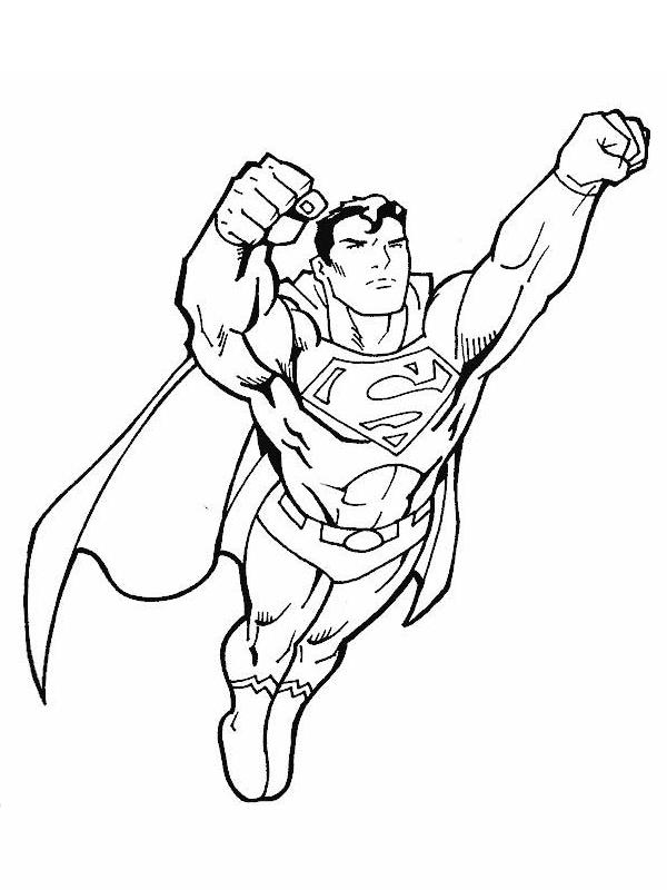 coloriage gratuit super heros