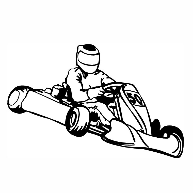 coloriage karting
