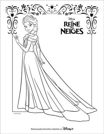 coloriage la reine des neiges en ligne