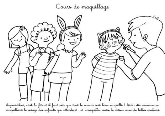 coloriage maquillage