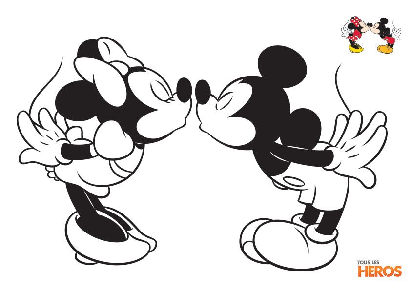 coloriage mickey et minnie