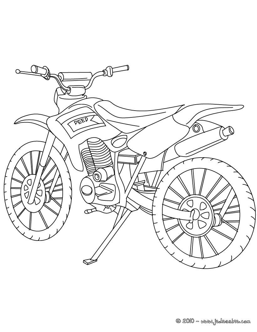 coloriage moto en ligne