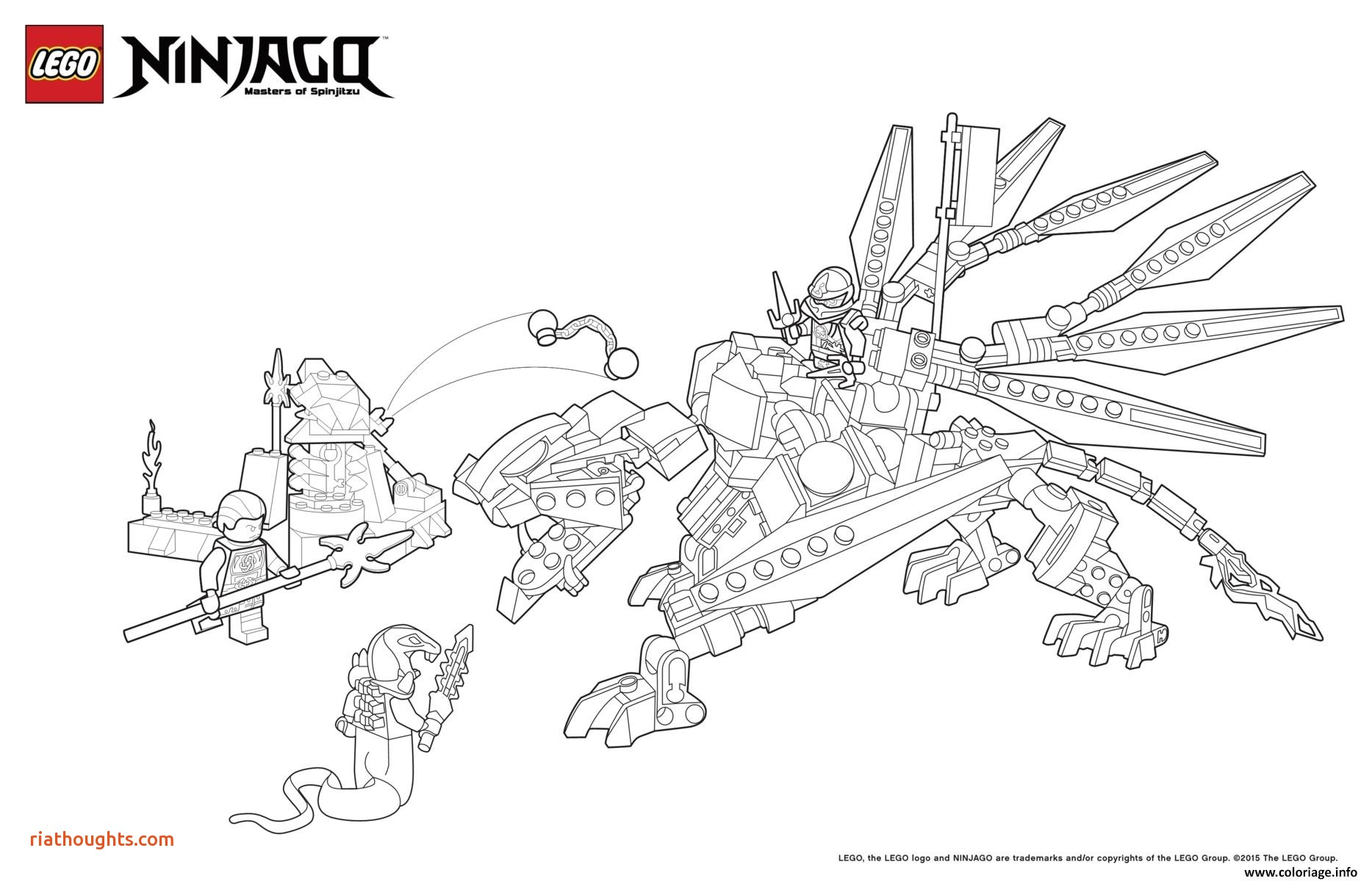coloriage ninjago dragon