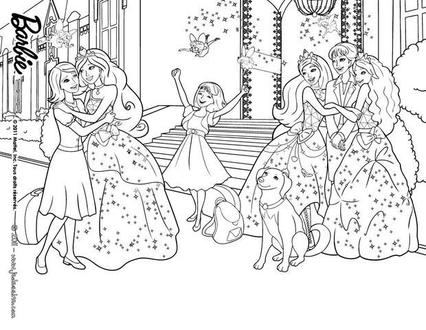 coloriage princesse barbie