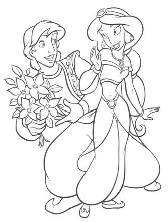 coloriage princesse jasmine