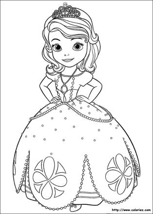 coloriage princesse sophia