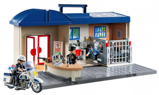 commissariat de police transportable playmobil