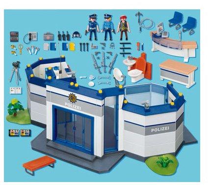 commissariat police playmobil 4264
