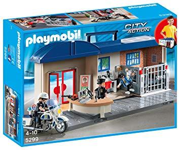 commissariat transportable playmobil
