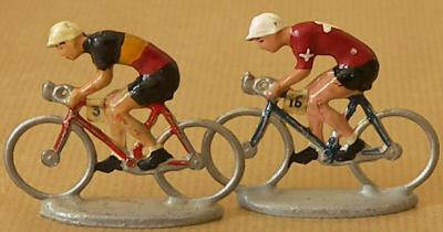 coureurs cyclistes miniatures