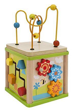 cube activite en bois