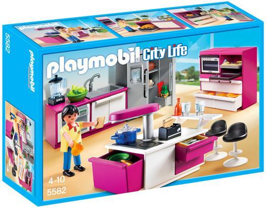 cuisine avec ilot playmobil