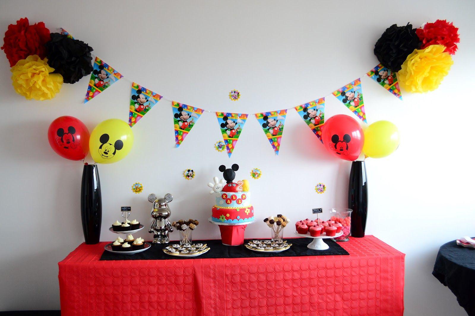 deco anniversaire mickey
