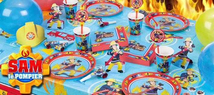 deco anniversaire sam le pompier