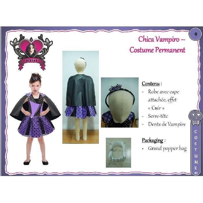 deguisement chica vampiro 8 10 ans