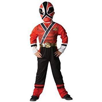 déguisement power rangers samurai rouge 6 ans