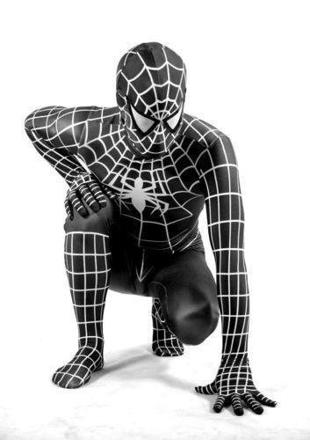 deguisement spiderman noir adulte