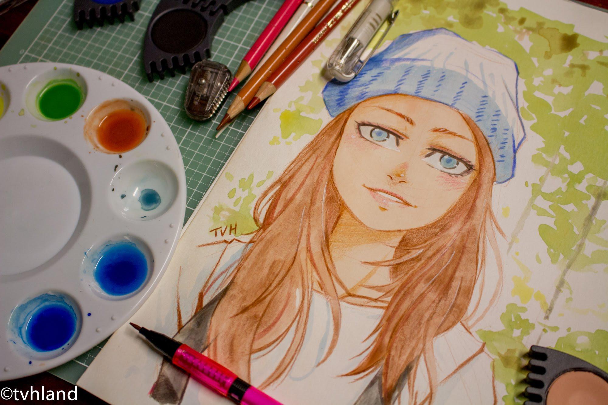 dessin a la peinture