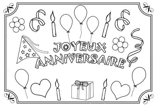 dessin carte anniversaire