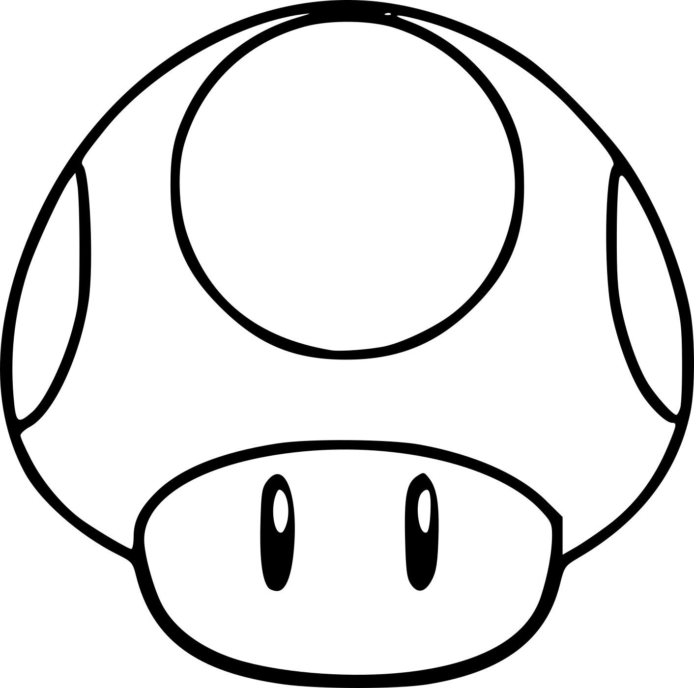 dessin champignon mario