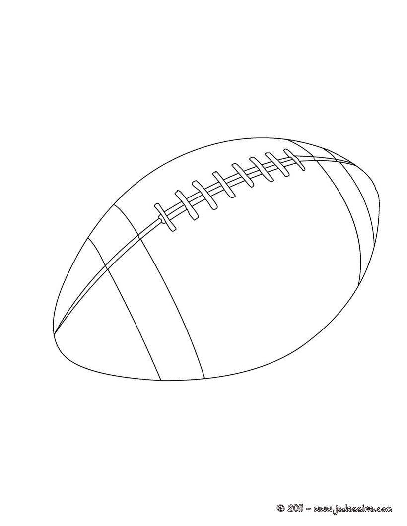 dessin d un ballon de rugby