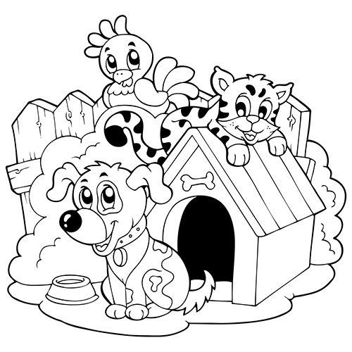 dessin de chat et de chien