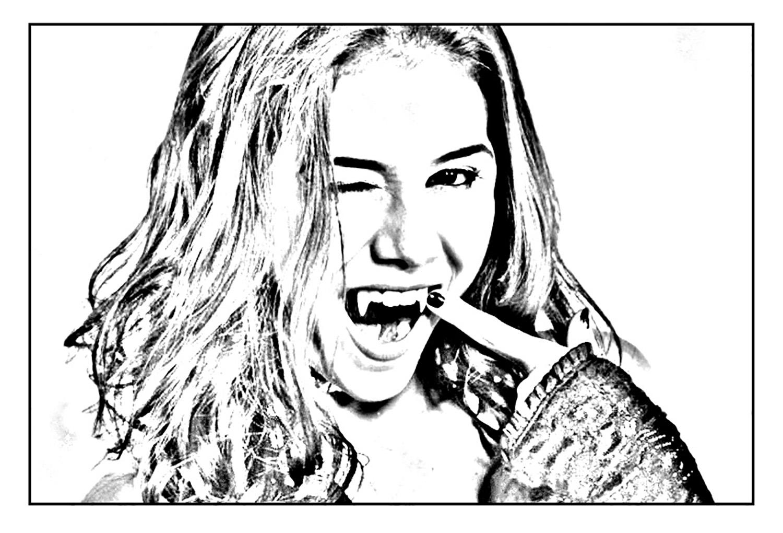 dessin de chica vampiro