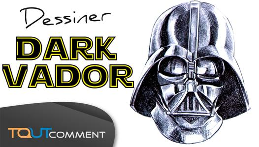 dessin de dark vador