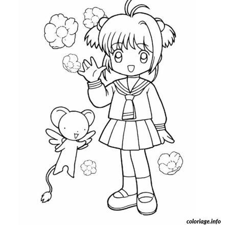 dessin de fille à colorier
