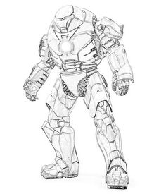 dessin de iron man 3