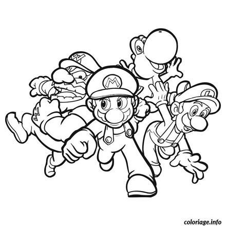 dessin de mario et ses amis