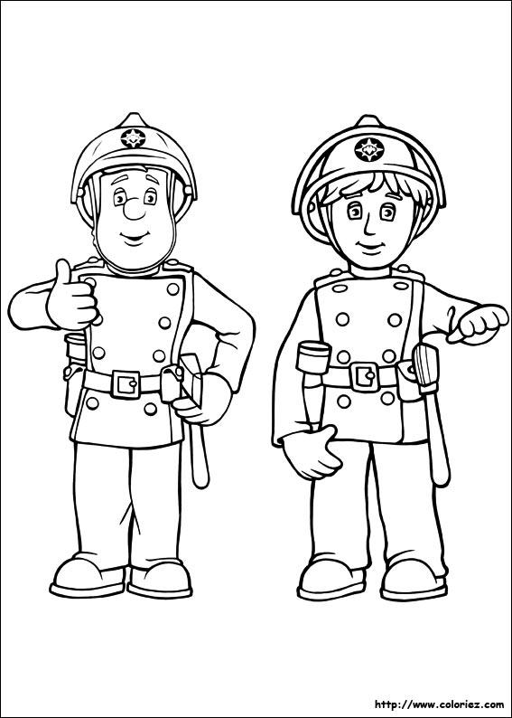 dessin de sam le pompier