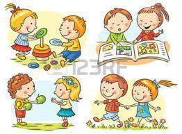 dessin enfant qui joue