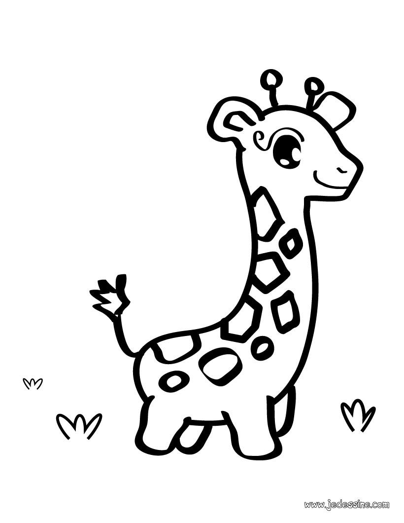 dessin girafe simple