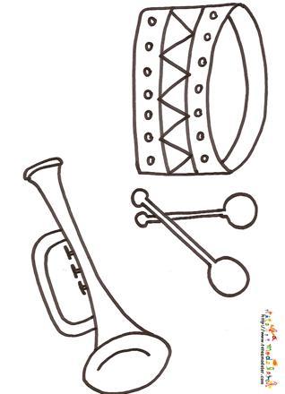 dessin instrument musique