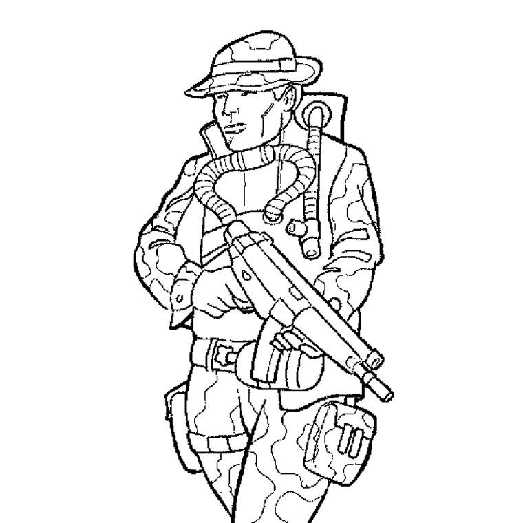 dessin militaire rigolo