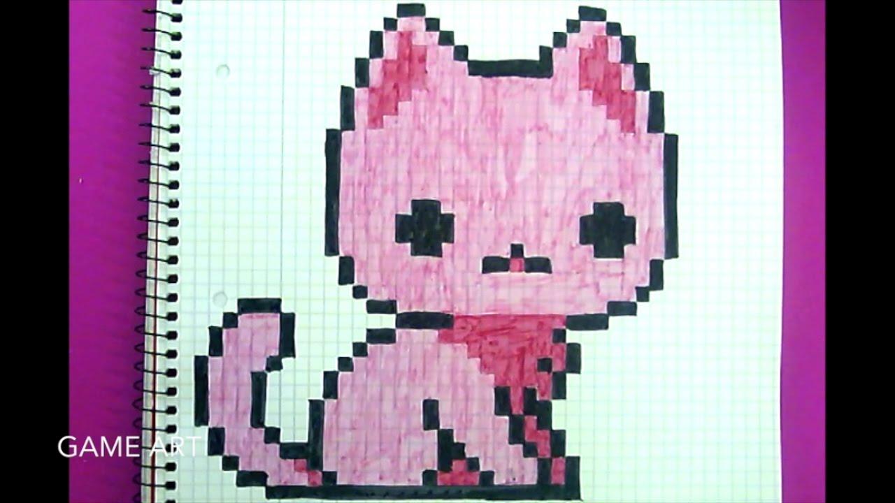 dessin pixel chat