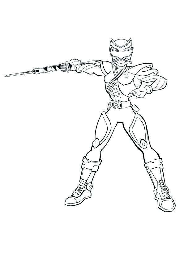 dessin power ranger samurai