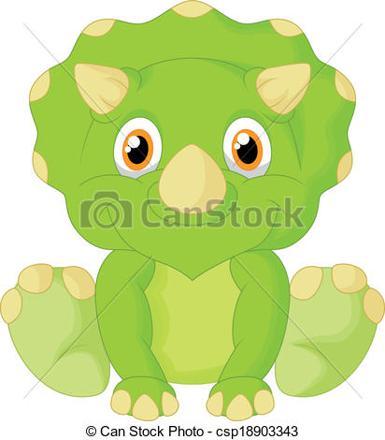 dessin triceratops