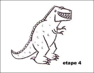 dessin tyrannosaure