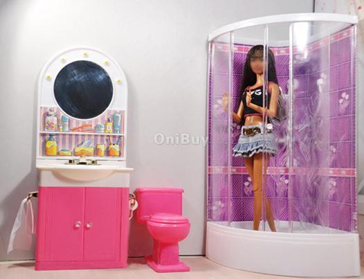 douche pour barbie