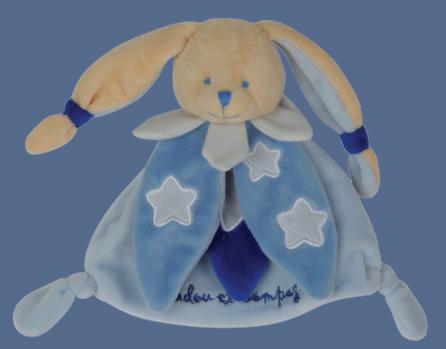 doudou lapin bleu doudou et compagnie