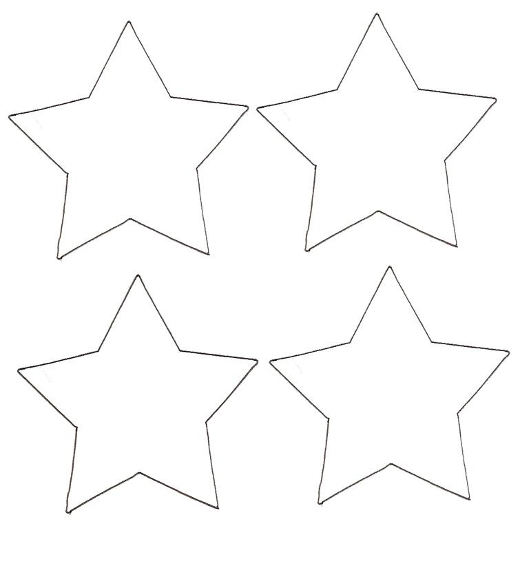 étoile de noel à colorier