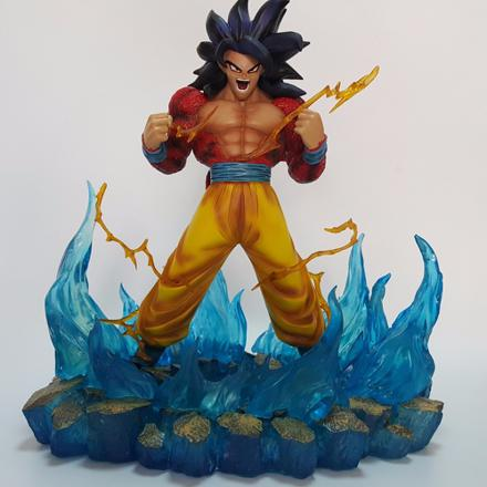 figurine dragon ball z sangoku super sayen 4